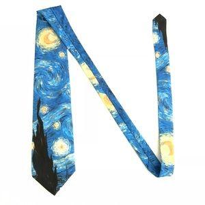 Vincent Van Gogh Starry Night Neck Tie Men's
